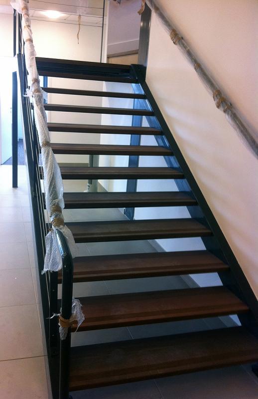 Fabrication d'escalier mixte